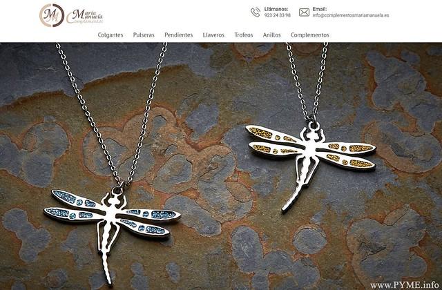 Imagen de la tienda online de Complementos Mª Manuela, impulsada por la empresa salmantina Pacheco Fundición y Forja.
