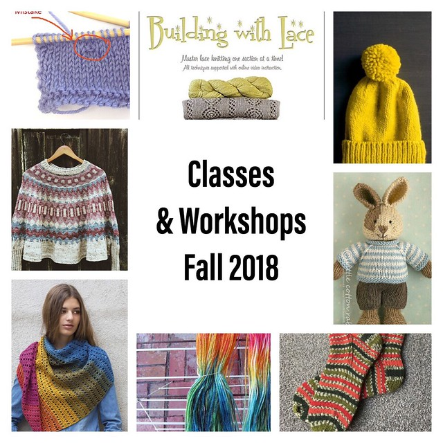 Classes and workshops have been posted!