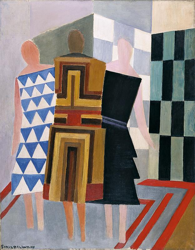 Три жінки, форми, кольору