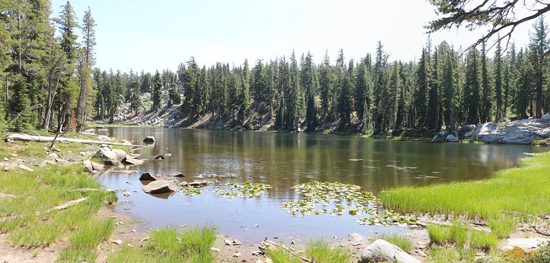 Lake Margery is a very peaceful lake just east of the Pacific Crest Trail