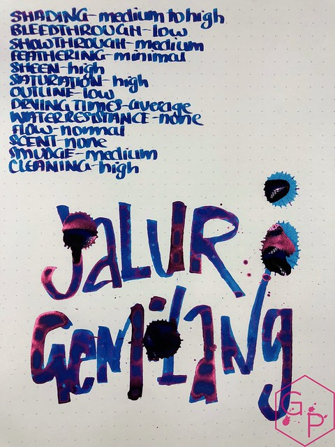 Pen Gallery Diamine Jalur Gemilang Ink Review 14