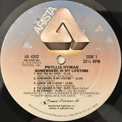 PHYLLIS HYMAN:SOMEWHERE IN MY LIFETIME(LABEL SIDE-A)
