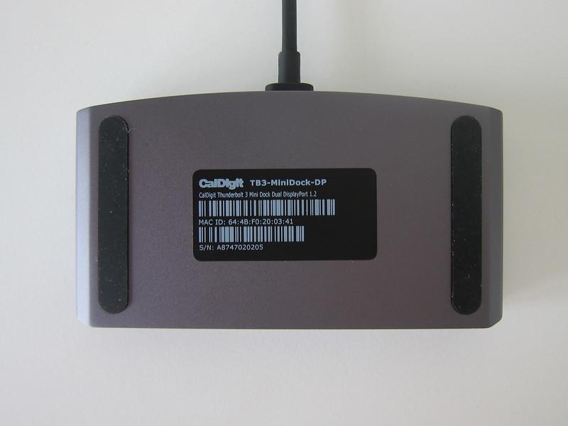 CalDigit - Thunderbolt 3 mini Dock (DisplayPort) - Bottom