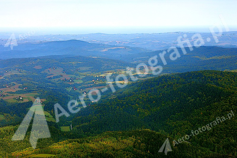 Pogórze Dynowskie - widok znad Krosna.