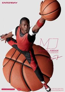 ENTERBAY【麥可·喬丹 真人上色版】Michael Jordan Real Color Edition 1/6 比例雕像作品
