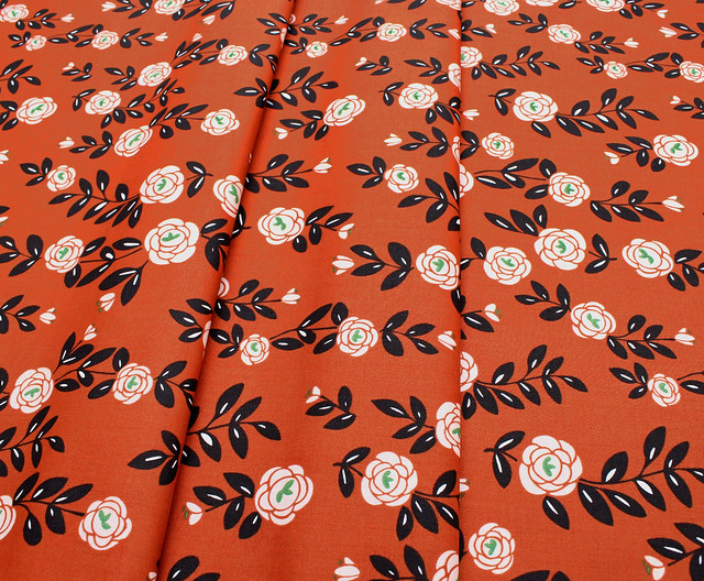 Cloud9 Fabrics Fanciful 208802 Rose Trellis Light Brick