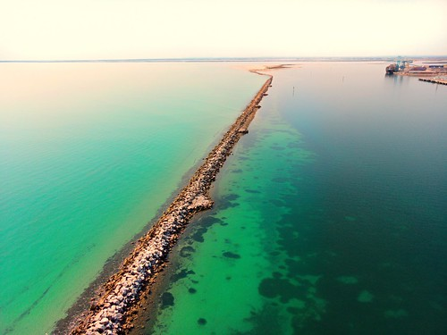 Trying some Drone photography now, more to come once I get the hang of this thing.... This is our local port and breakwater leading into the shipping channel