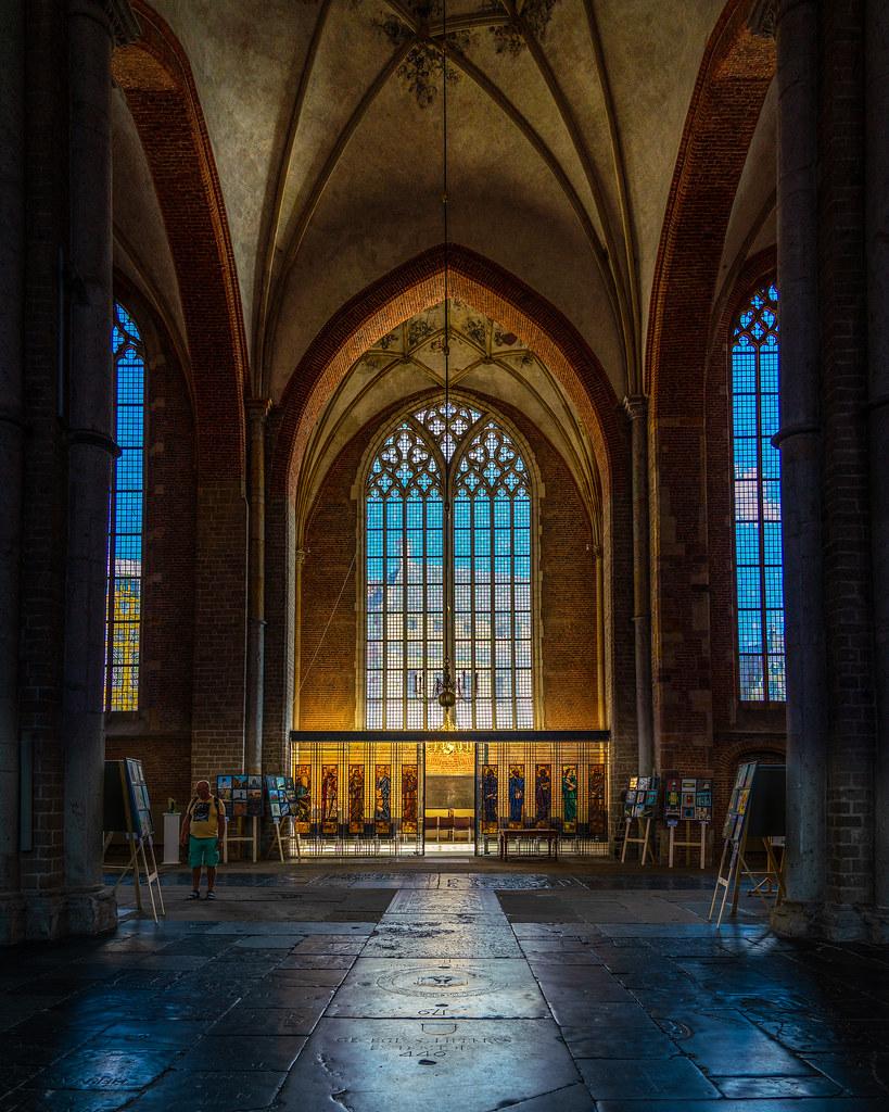 Ornamental windows of the Bergkerk Church in Deventer Over… | Flickr