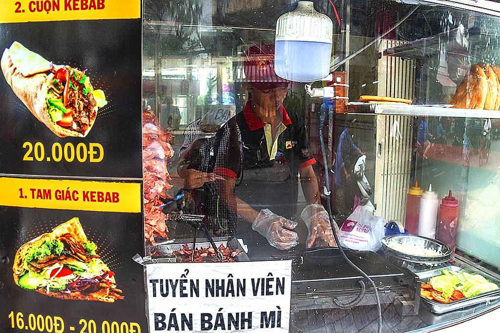 Kebab stand in District 6--Saigon