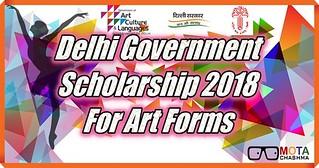 Delhi Govt Scholarship for Art forms