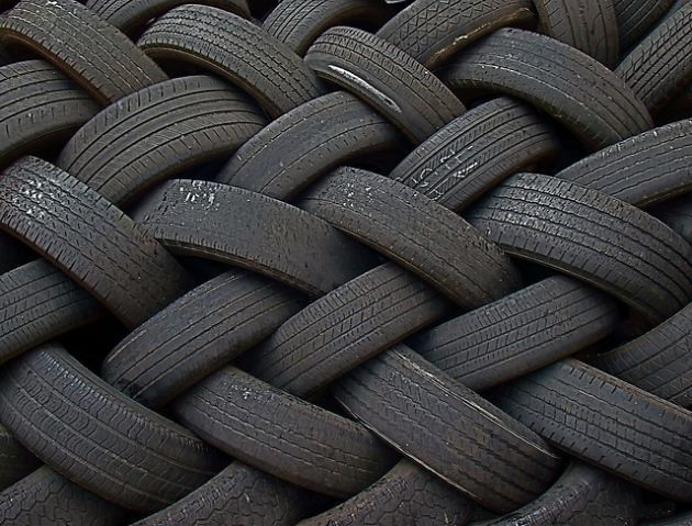 отработанные шины