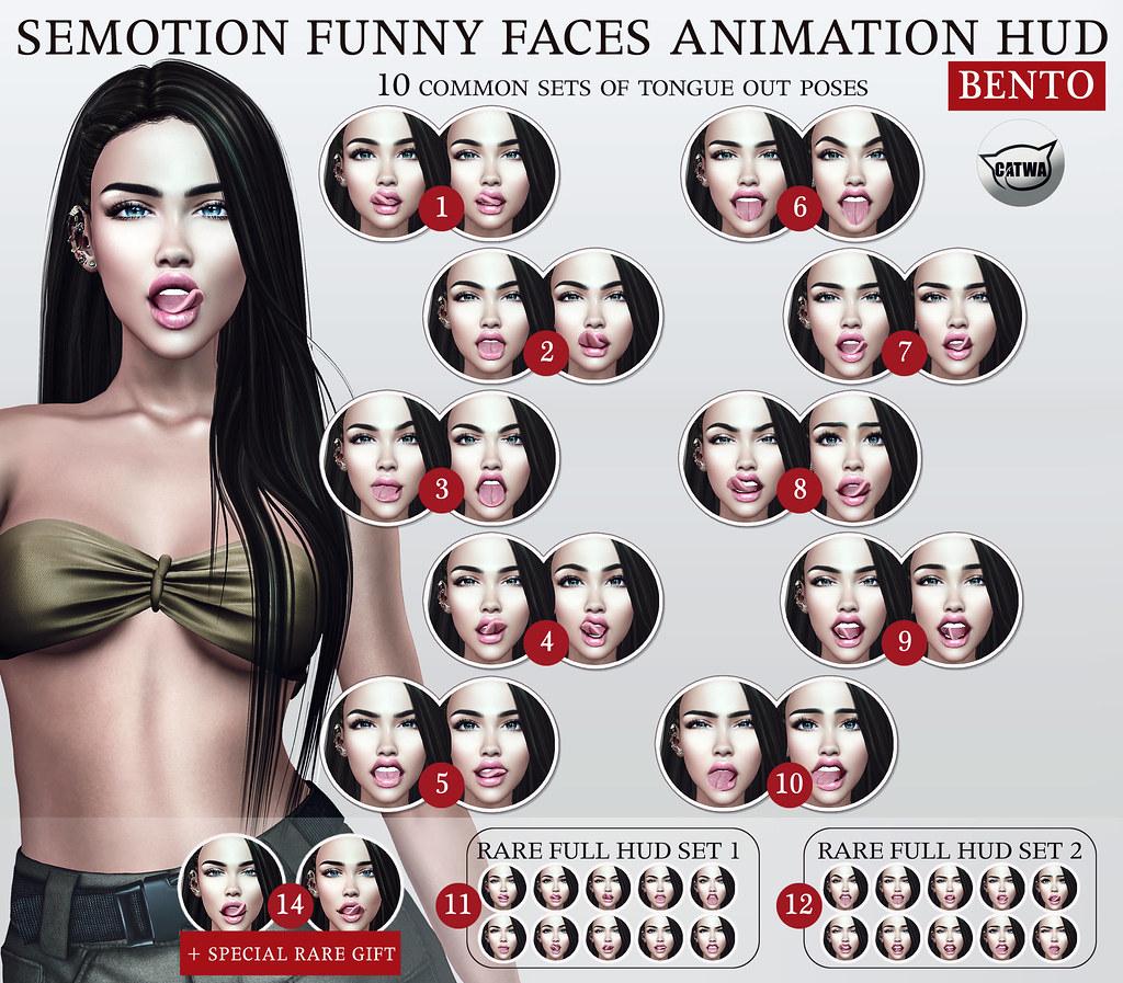 SEmotion Funny Faces Facial HUD - TeleportHub.com Live!
