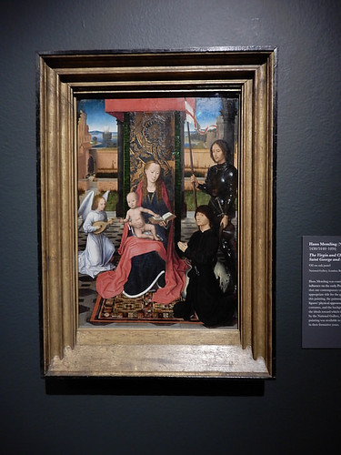 DSCN2741 - The Virgin and Child with an Angel, St George and a Donor, Hans Memling, The Pre-Raphaelites & the Old Masters