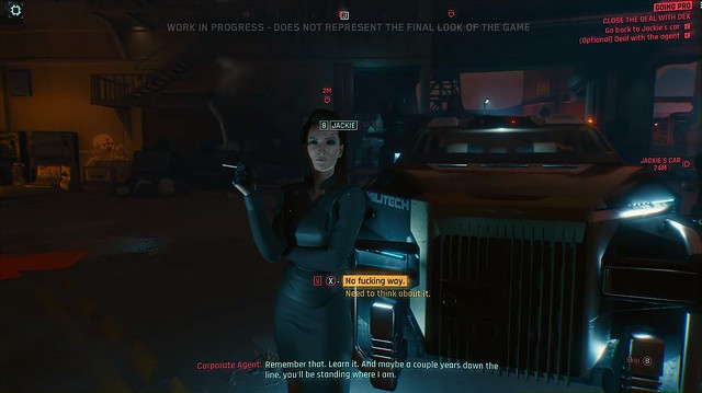 Cyberpunk 2077 - агент з вибору діалогу