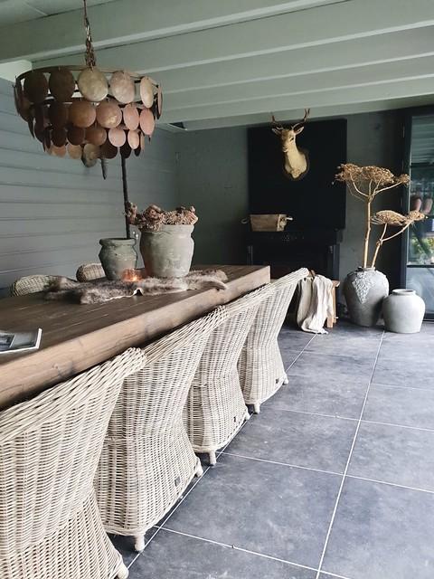 Veranda stylen landelijke stijl