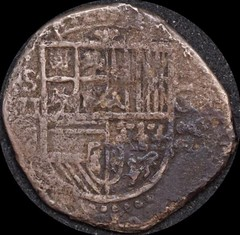 Spain 1588 Silver 2 Reales obverse