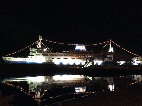 函館 青函連絡船摩周丸 ライトアップ  夜景 4F81627B-890F-44A6-8D94-510C14E24A06