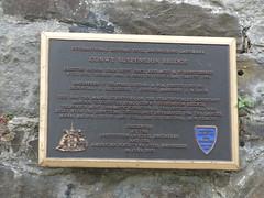 Photo of Thomas Telford and Conwy Suspension Bridge black plaque