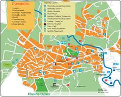 Карта Сокобани с достопримечательностями