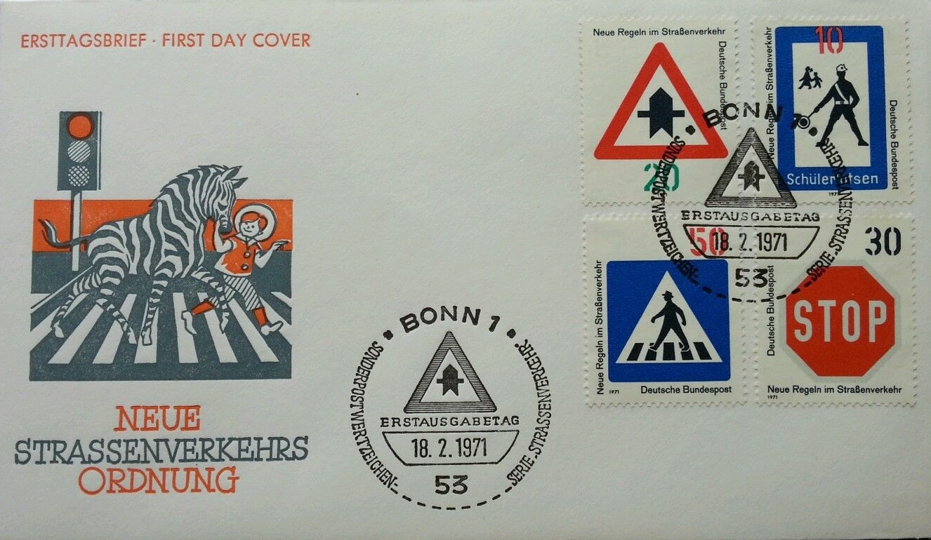 Federal Republic of Germany - Scott #1055-1058 (1971) first day cover
