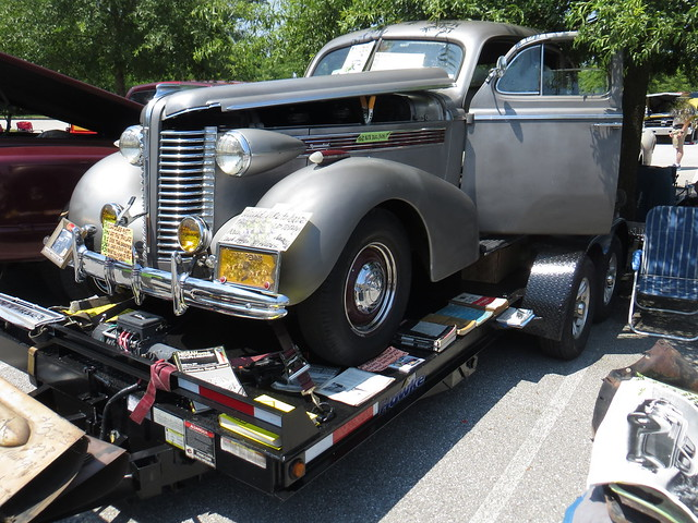 Gray Car On Trailer
