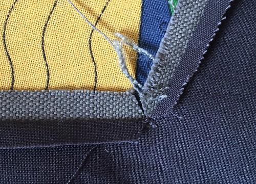 afwerking vierkante hals beleg canvas jurk vooral persen