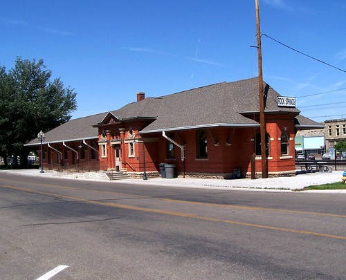 Rock Springs  Utah - Union Pacific Depot - 1920 - Depot Park
