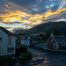 Sunset over the Ochils in Tillicoultry