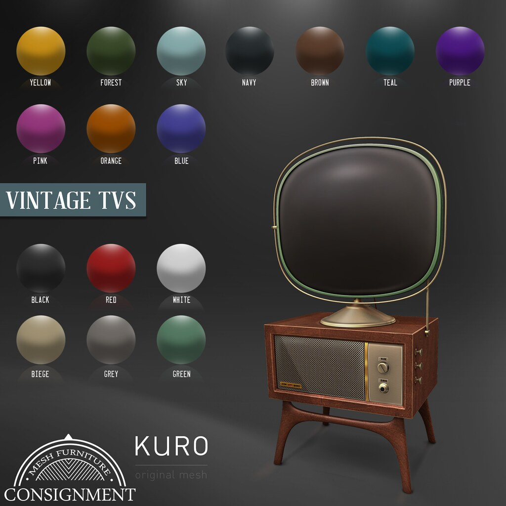 Kuro and Con - Vintage tv gacha at TLC - TeleportHub.com Live!