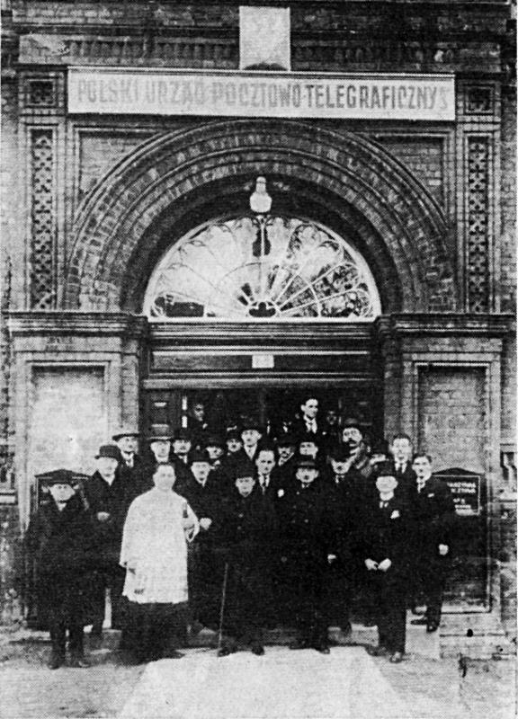 The opening of the Polish Post Office