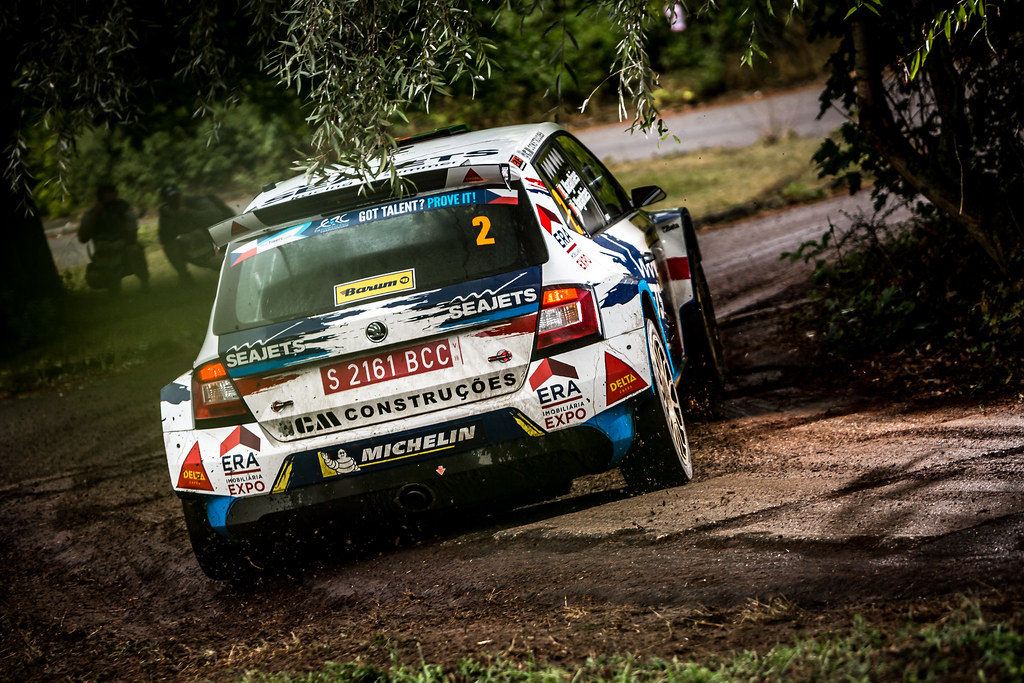 02 Magalhaes Bruno, Magalhaes Hugo, PRT/PRT, Magalhaes Bruno, Skoda Fabia R5, Action during the 2018 European Rally Championship ERC Barum rally,  from August 24 to 26, at Zlin, Czech Republic - Photo Thomas Fenetre / DPPI
