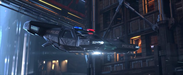 Cyberpunk 2077 - поліцейський крейсер