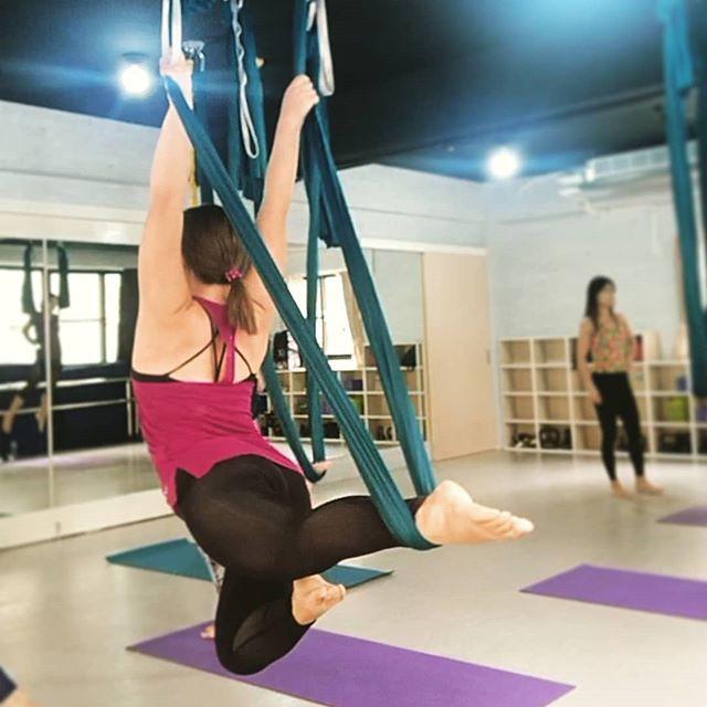 20180828 第634堂課 空中瑜伽 #有運動沒在怕的 #運動使人開心 #40歲以後找回自己 #喜歡自己拍自己