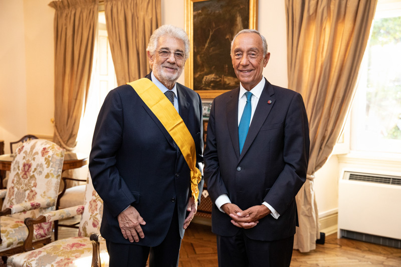 Europa Nostra's President Plácido Domingo receives High Decoration from President of Portugal