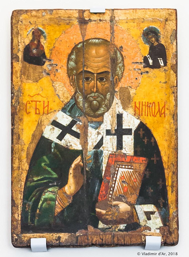 Святитель Николай Мирликийский, кон. XV в. Тверь.