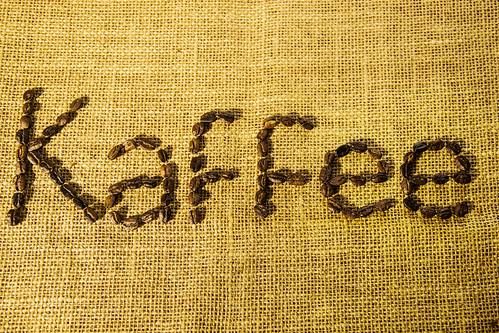 Kaffee Written with Grains