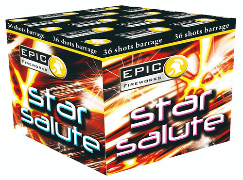 Star Salute 36 Shot Firework Barrage #EpicFireworks
