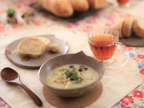 きのことさつまの秋の豆乳スープ 20180912-IMG_4296 (2)