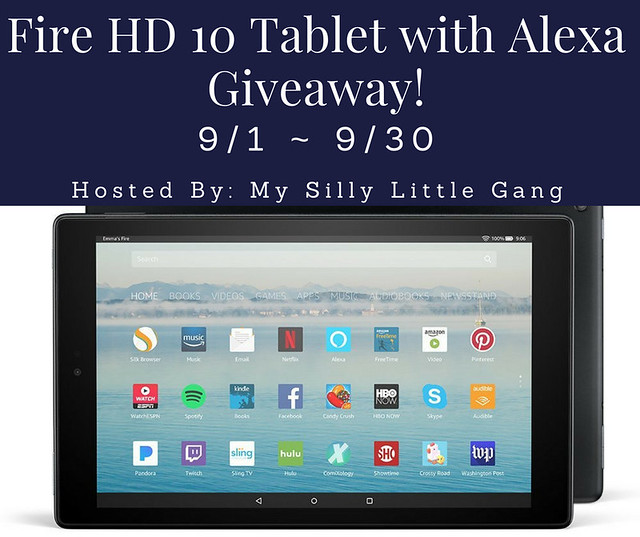 Fire HD 10 Tablet Alexa Giveaway