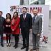 Francisco Lecaros, presidente de la Fundación Minera de Chile, junto a representantes del mundo académico y minero en la inauguración del encuentro