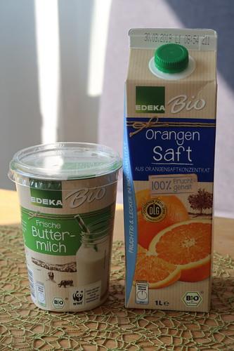 Orangenbuttermilch (Zutaten)