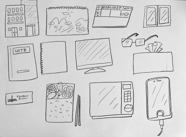 드로잉교실 레슨 3 - 도형과 그림 1/연상되는 것을 그려보자