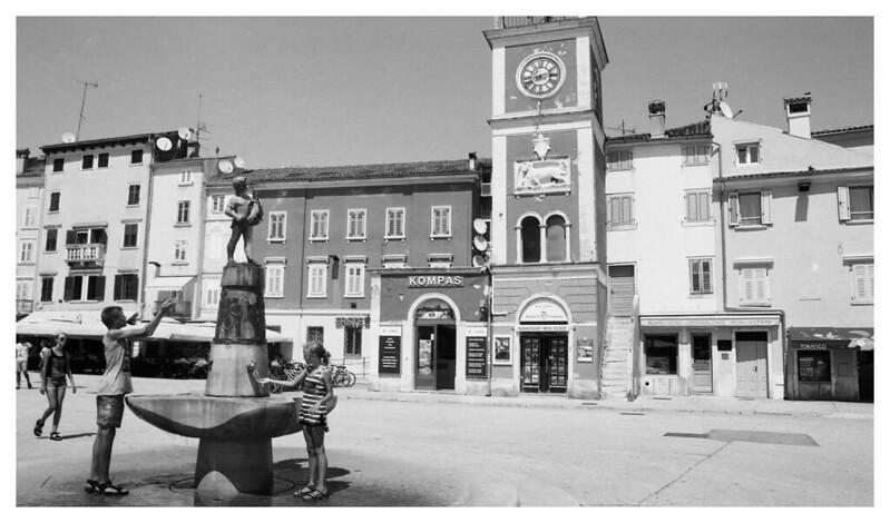 Rovinj town square