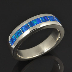 Lab Created Opal Ring for Men