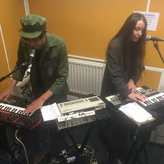 Honey Birch, Emmeline Armitage & Sex Cells performing live in session on The deXter Bentley Hello GoodBye Show on Resonance 104.4 FM in central London on Saturday 15th September 2018