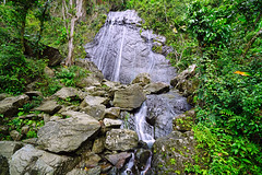 Waterfall in El Yunque Forest, Puerto Rico