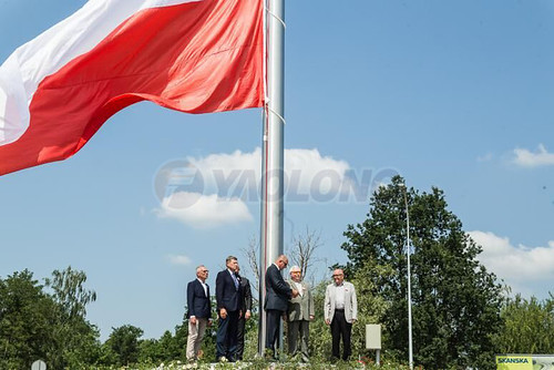 Electric Operated Flagpole for Poland two
