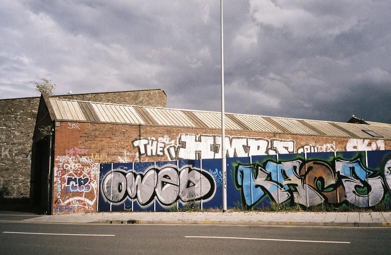Graff opposite the Feeder Basin