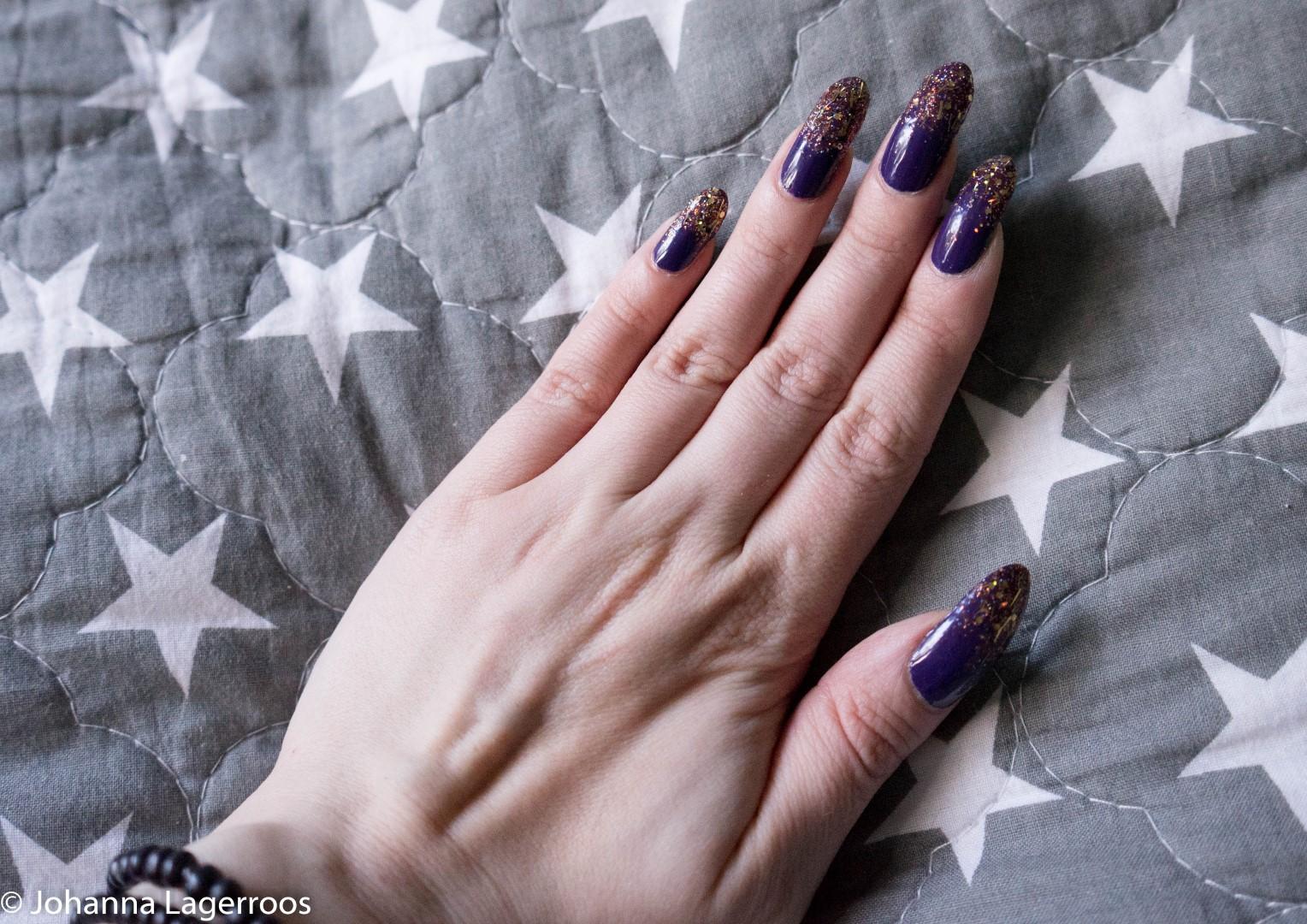 Purple and orange nails