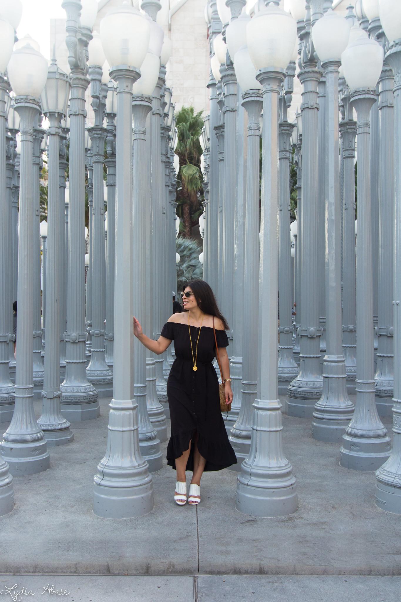 black off the shoulder dress, round rattan bag, urban light-12-Edit-2.jpg